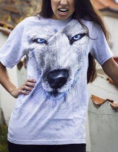 Dámské tričko se zvířecím potiskem (the mountain) White Wolf
