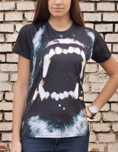 Dámské tričko se zvířecím potiskem (the mountain) Wolf