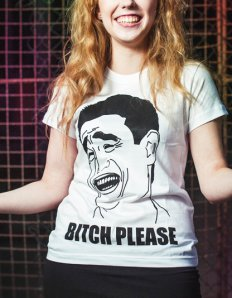 Dámské tričko s potiskem MEME – Bitch Please