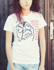 Dámské tričko s potiskem MEME – Rage Guy (Fuuu)