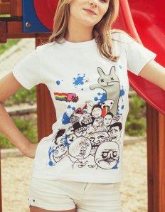 Dámské tričko s potiskem MEME – Meme legends