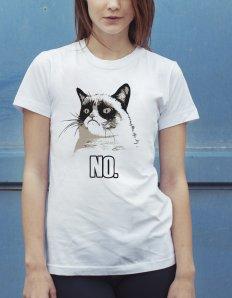 Dámské tričko s potiskem MEME - Grumpy cat