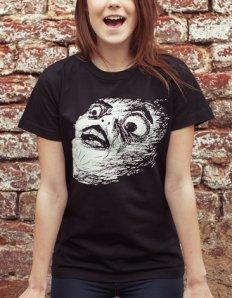 Dámské tričko s potiskem MEME – OMG Rage Face