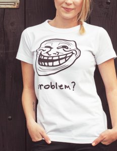 Dámské tričko s potiskem MEME – Trollface