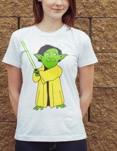 Dámské tričko s potiskem MEME – Yoda Maguire