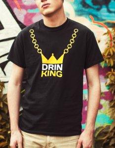 Pánské tričko s potiskem – Drink King