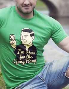 Pánská trička s potiskem – Gangbang