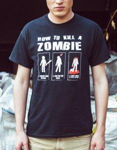 Pánské tričko s potiskem – How to kill a zombie