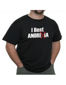 Pánské tričko s potiskem – I beat anorexia
