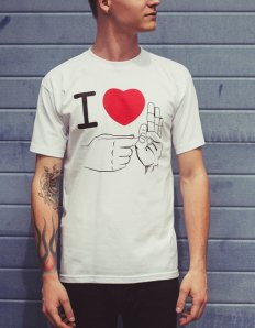 Pánské tričko s potiskem – I love it