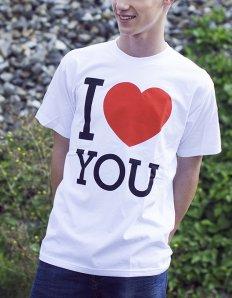 Pánské tričko s potiskem – I love you