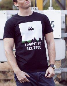 Pánské tričko s potiskem – I want believe