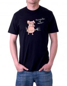 Pánské tričko s potiskem - Nezkoušej mě nasrat