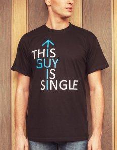 Pánské tričko s potiskem – This guy is single