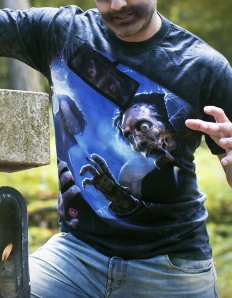 Pánské tričko s potiskem – Zombie Crash