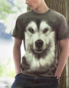 Pánské tričko se zvířecím potiskem (the mountain) Alaskan Malamute