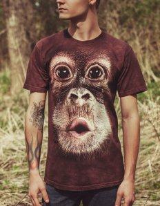 Pánské tričko se zvířecím potiskem (the mountain) Baby Orangutan