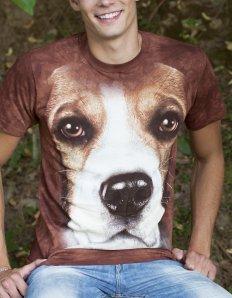 Pánské tričko se zvířecím potiskem (the mountain) Beagle