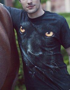 Pánské tričko se zvířecím potiskem (the mountain) Black panther