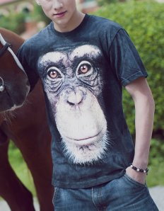 Pánské tričko se zvířecím potiskem (the mountain) Chimp