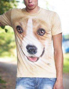 Pánské tričko se zvířecím potiskem (the mountain) Corgi