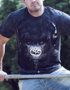 Pánské tričko se zvířecím potiskem (the mountain) DJ Caesar