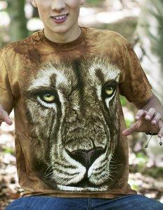 Pánské tričko se zvířecím potiskem (the mountain) Lion warrior