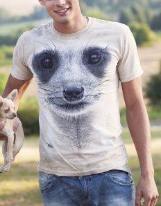 Pánské tričko se zvířecím potiskem (the mountain) Meerkat
