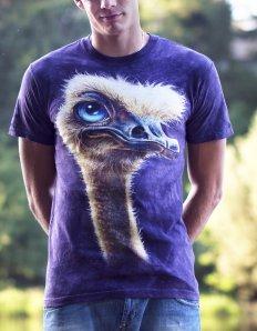 Pánské tričko se zvířecím potiskem (the mountain) Ostrich
