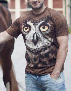 Pánské tričko se zvířecím potiskem (the mountain) Owl