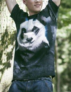 Pánské tričko se zvířecím potiskem (the mountain) Sweet panda