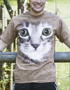 Pánské tričko se zvířecím potiskem (the mountain) Sweet kitten