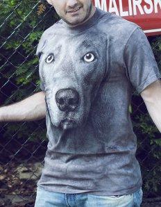 Pánské tričko se zvířecím potiskem (the mountain) Weimaraner
