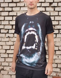 Pánské tričko se zvířecím potiskem (the mountain) Wolf