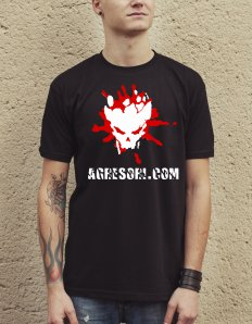 Pánské tričko s potiskem – Agresoři