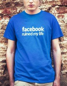 Pánské tričko s potiskem – Facebook ruined my life