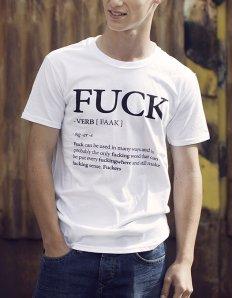 Pánská trička s potiskem – Fuck