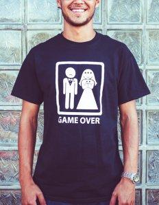 Pánské tričko s potiskem – Game over