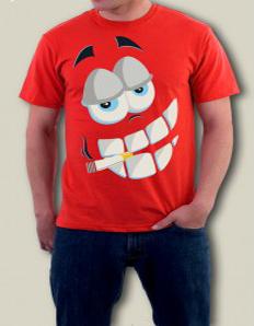 Pánské tričko s potiskem – Happy face