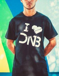 Pánské tričko s potiskem – I love DNB  b14177da68