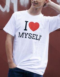 Pánské tričko s potiskem – I love myself