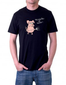 Pánské tričko s potiskem – Nezkoušej mě nasrat