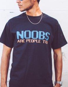 Pánské tričko s potiskem – Noobs are people too