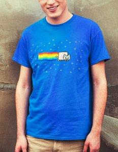 Pánské tričko s potiskem – Nyan cat