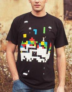 Pánské tričko s potiskem – Old games