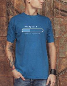 dc671fca4ad Pánské tričko s potiskem – Přemýšlím