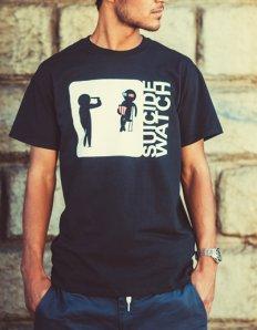 Pánské tričko s potiskem – Suicide watch
