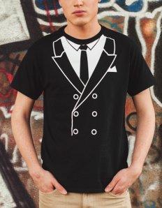 Pánské tričko s potiskem – Suit