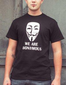 Pánské tričko s potiskem – We are anonymous