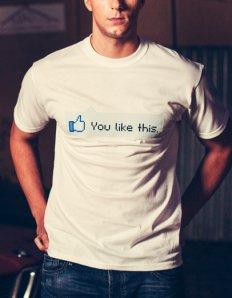Pánské tričko s potiskem – You like this